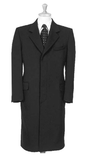 Single Breasted 3 Buttons Overcoat fly front